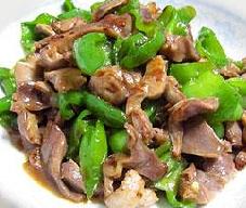 果蔬百科尖椒炒鸡胗